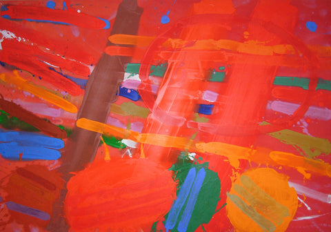 Abstract painting by Albert Irvin
