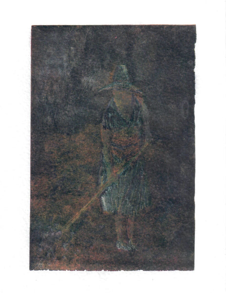 016, Adam Grose, Farmworker (Wife), Monotype print (1/1) 190x140mm