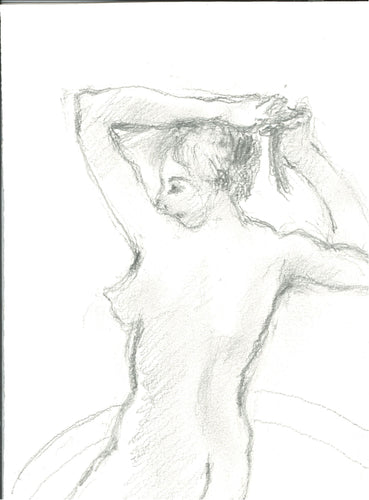025, Glo Williams RWA, Untitled (nude), Pencil on paper 190x140mm