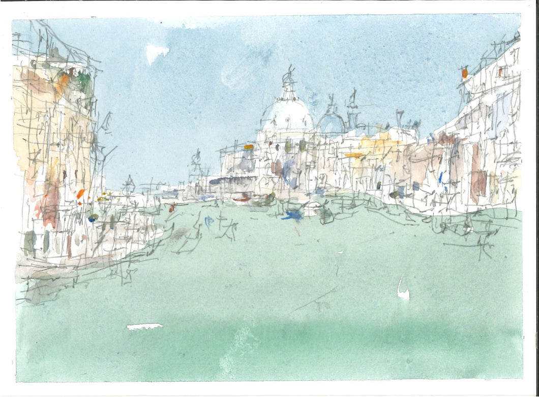 039, John Palmer RWA, Grand Canal, Watercolour and pencil 140x190mm