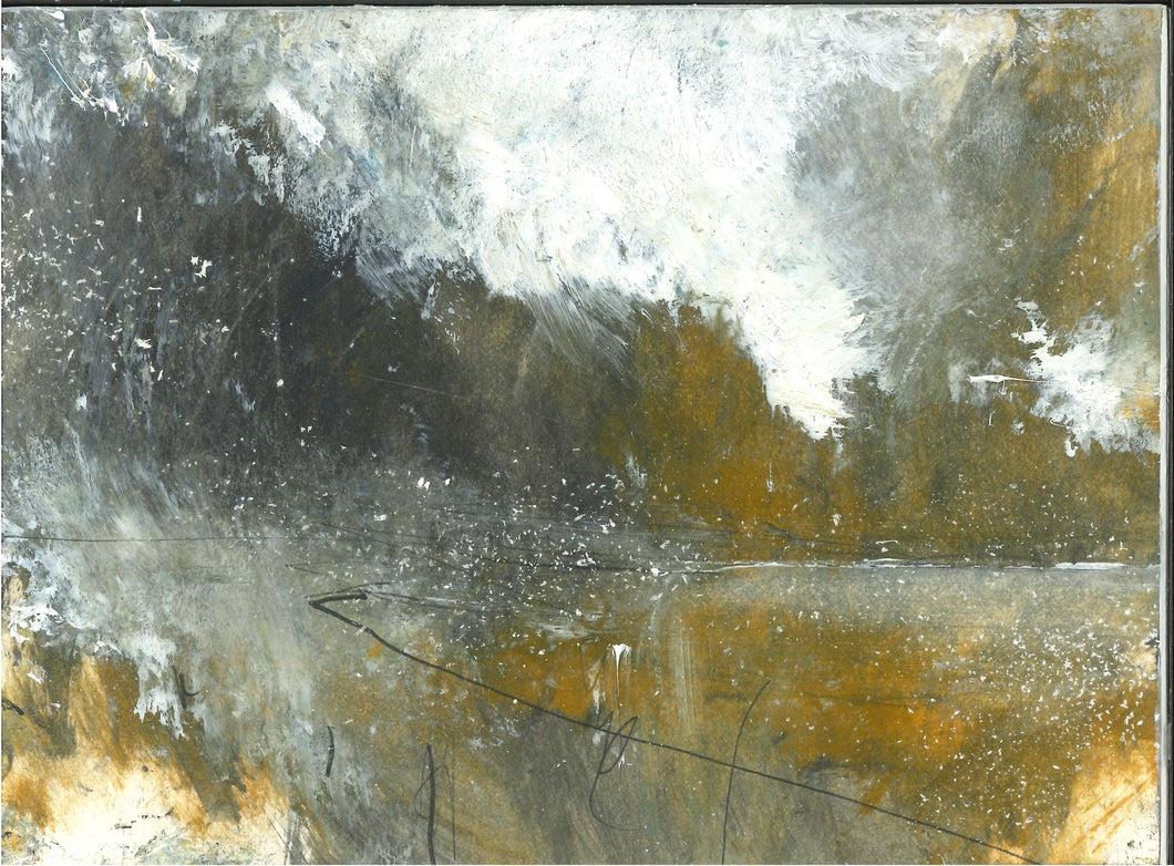 043, Mark Stopforth, Sky, snow and light II, acrylic and pencil on card 140x190mm