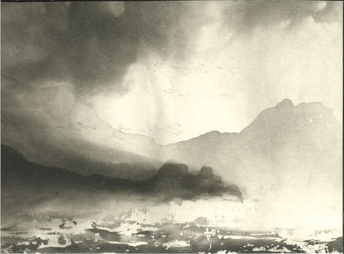 044, Norman Ackroyd RA, Saddle Head, Achill, Co Mayo, Etching (detail) 140x190mm