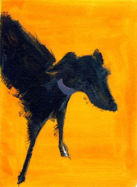 066, Sally Muir, Untitled (Dog), Mixed media 190x140mm