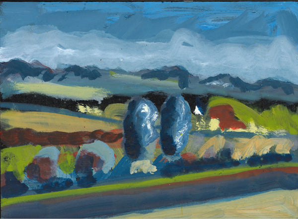 093, Robert Hobhouse, Untitled (Landscape 1), Acrylic on MDF 140x190mm
