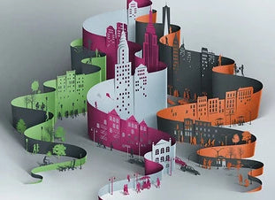 Junior Drawing School - Paper-cut Cityscapes