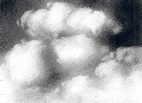 121, Helen Jones, Untitled (Clouds), Monochrome drawing 140x190mm
