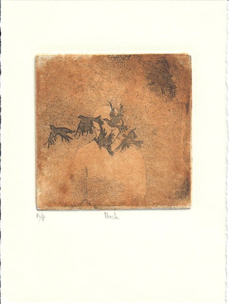 136, Julie Dyer, Hush, Etching: hardground, soft ground & acquatint 190x140mm
