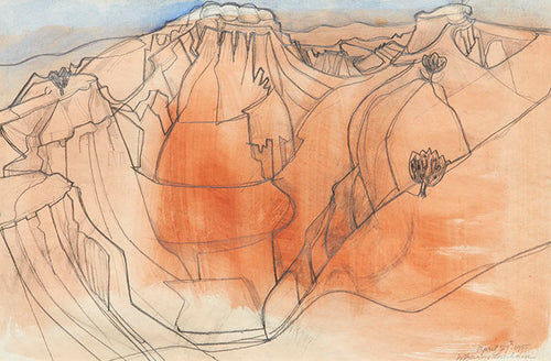 Wilhelmina Barns-Graham, Red Canyon Palinuro Campagna, 1955