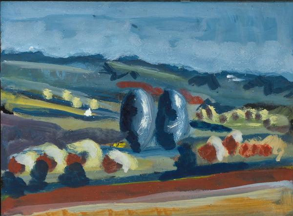 188, Robert Hobhouse, Untitled (Landscape 2), Acrylic on MDF 140x190mm