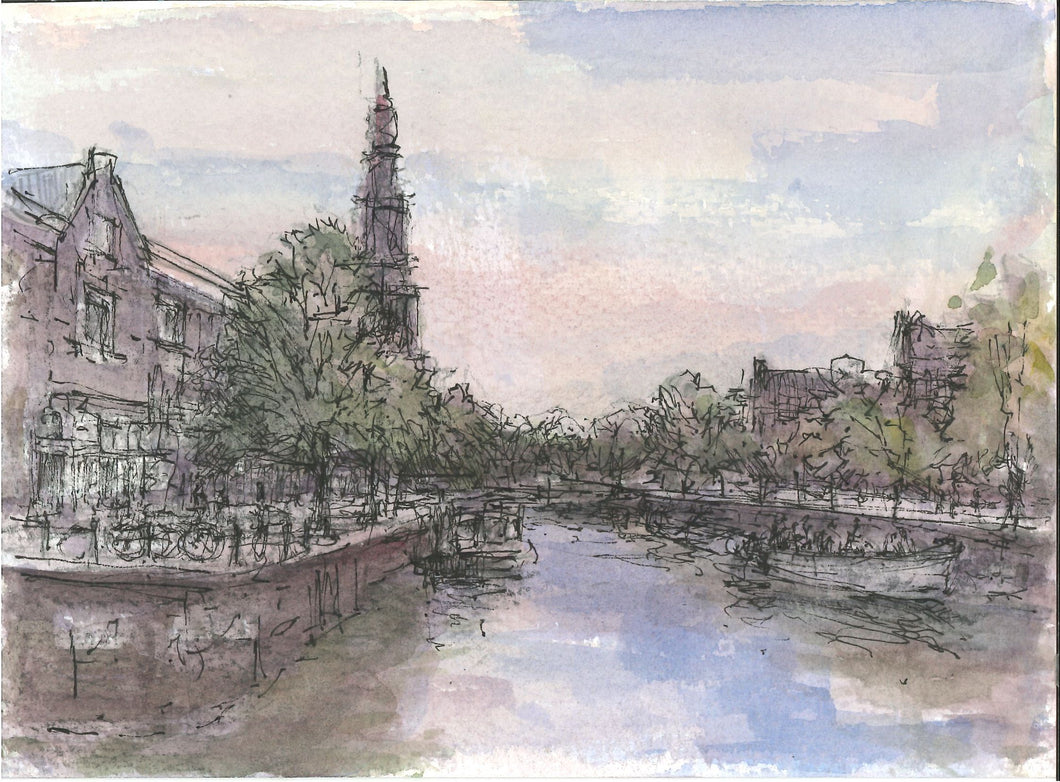 226, Christopher Glanville RWA, Amsterdam, Ink and watercolour 140x190mm