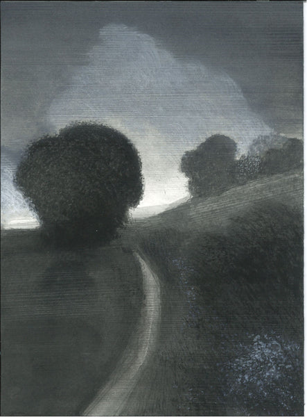 233, Malcolm Ashman RWA RBA, An evening walk, Mixed media 190x140mm