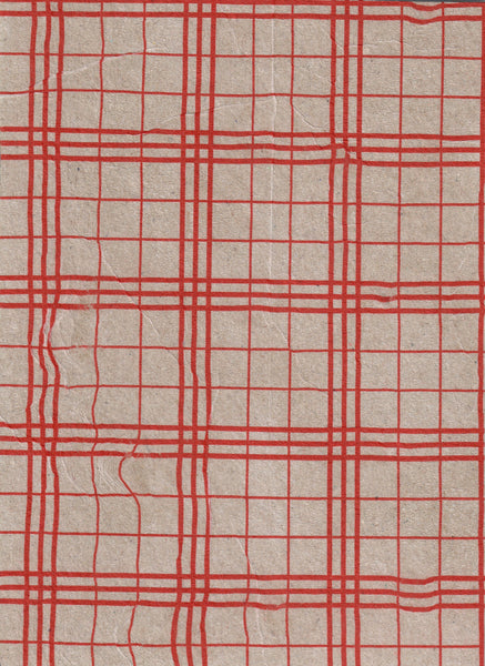281, Vera Boele-Kelmer RWA, Red Grid, Ink on card 190x140mm