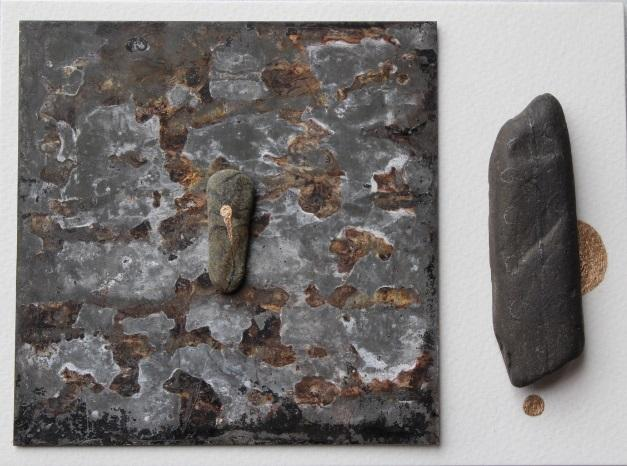 310, Deborah Westmancoat RWA, Untitled 2020, Mixed media assemblage with stones