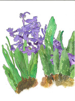 382, Denis Baxter RWA, Hyacinth sketch for the Hyacinth cycle etching, Mixed media 190x140mm