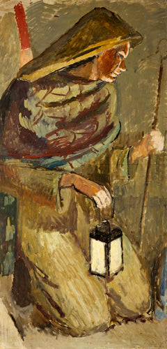 Vanessa Bell, Study for Berwick Church - The Shepherd