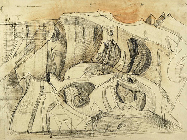 Wilhelmina Barns-Graham, Study for Large Shelf I [Glacier], 1951