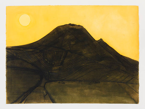 Wilhelmina Barns-Graham, Black Silence I, Maguez (Yellow), 1990