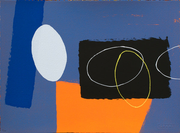 Cobalt and Orange Playing Games, Wilhelmina Barns-Graham