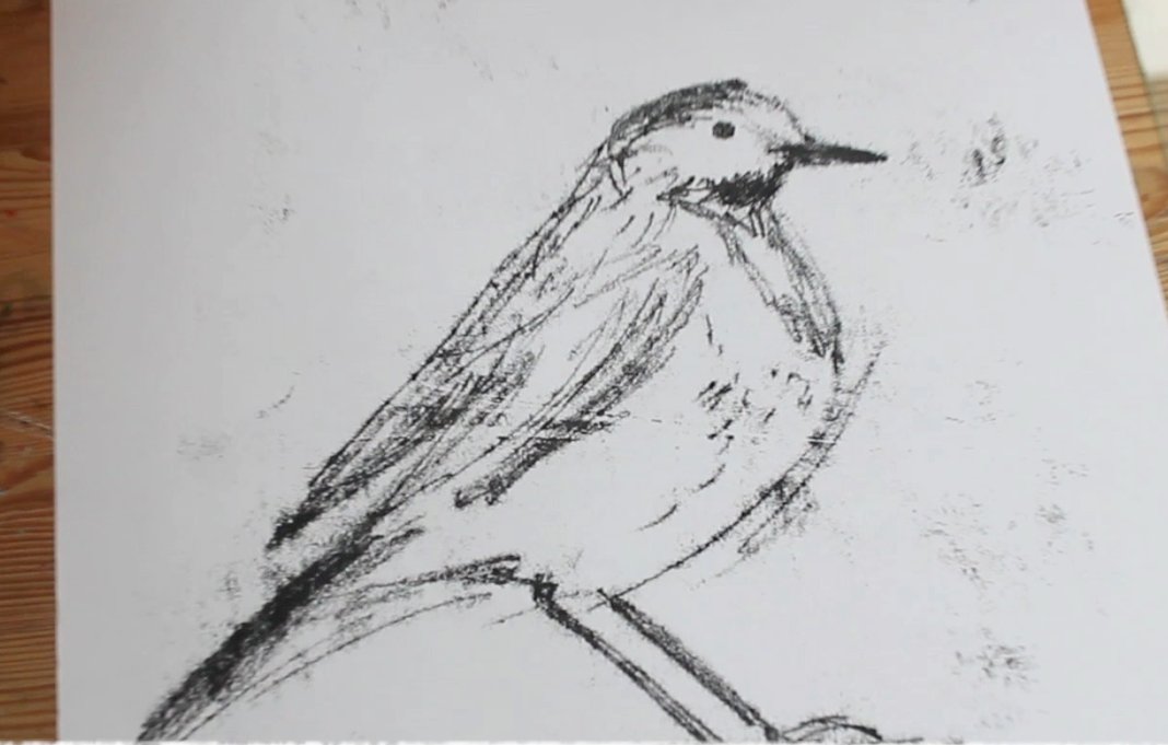 Scribble and Sketch Online (No.8) Monoprinting Birds