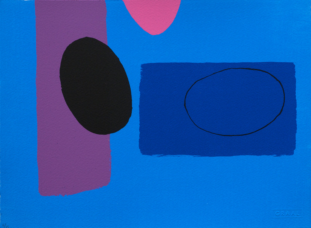 Cobalt and Pink Playing Games, Wilhelmina Barns-Graham
