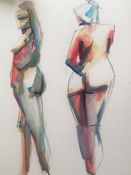 Watercolour and the Nude