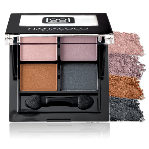 Eyeshadow Quad Palette - Smoky, Eyeshadow Palette, Nanacoco PRO, Irresistible Cosmetics
