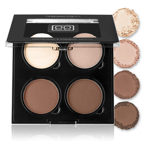 Contour and Strobing Quad Palette - Medium, Contour and Strobing Quad Palette, Nanacoco PRO, Irresistible Cosmetics