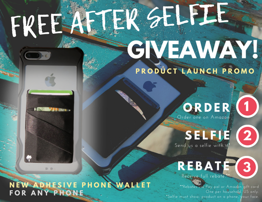Free After Selfie Giveaway! The StickyWallet – NEW Spandex Stick-on Wallet for Any Phone