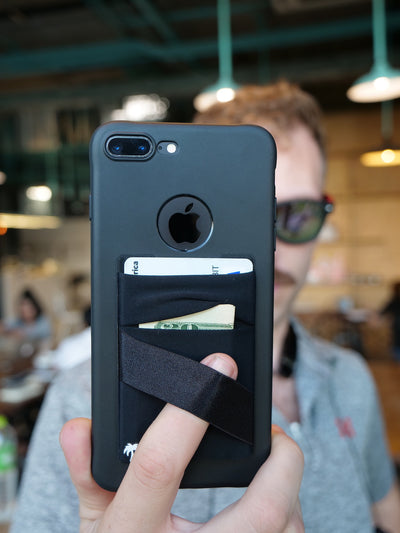 The StickyWallet – The Original Spandex Stick On Phone Wallet