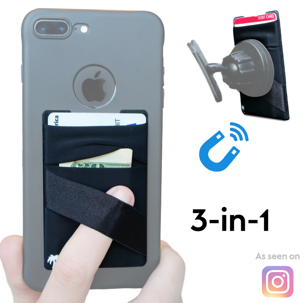 The Sticky Wallet – NEW Unique Spandex Stick-on Wallet for Phone Cases