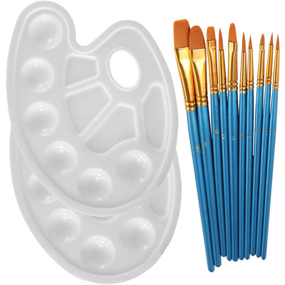 Blue paintbrush and Tray palette set