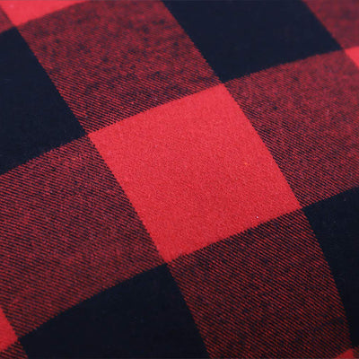 heartybay Christmas Throw Pillow Covers Red & Black Buffalo Check Plaid Holiday Decor Square Cotton Canvas Cushion Case for Sofa Couch Bedroom Car 18 x 18 Inch Set of 2