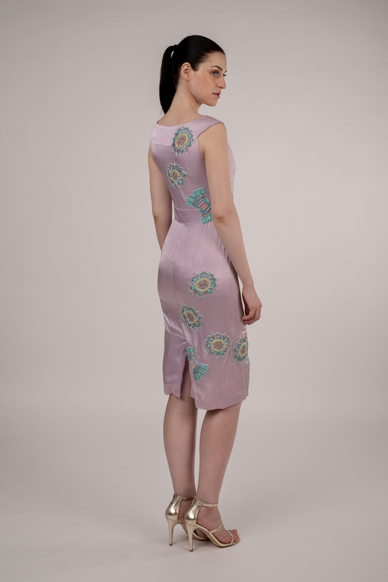 Lilac Floral Bodycon Dress