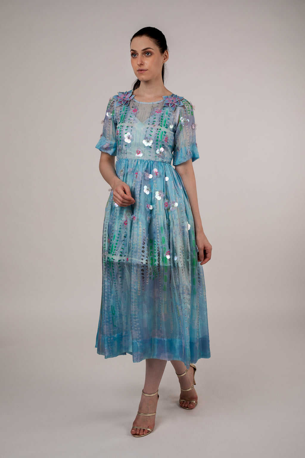Photomontage Electrified Floral Dress