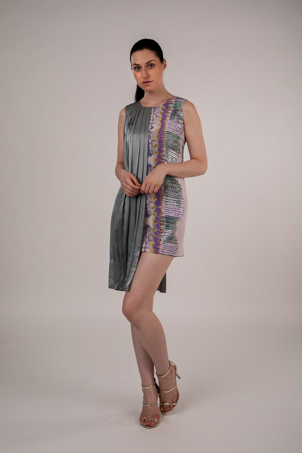 Enchanted Print Pleated Dress