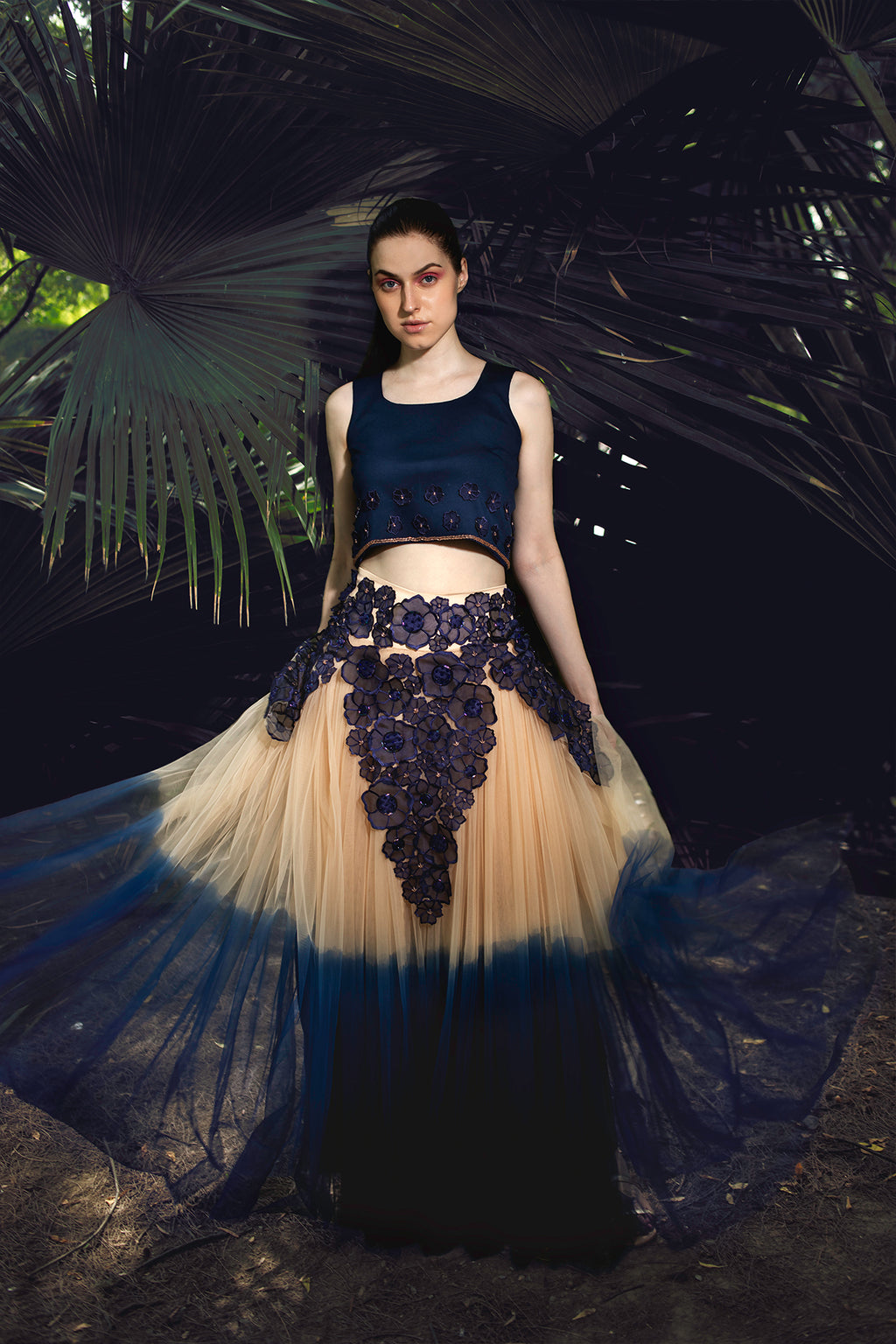 Electrified Floral Tulle Skirt