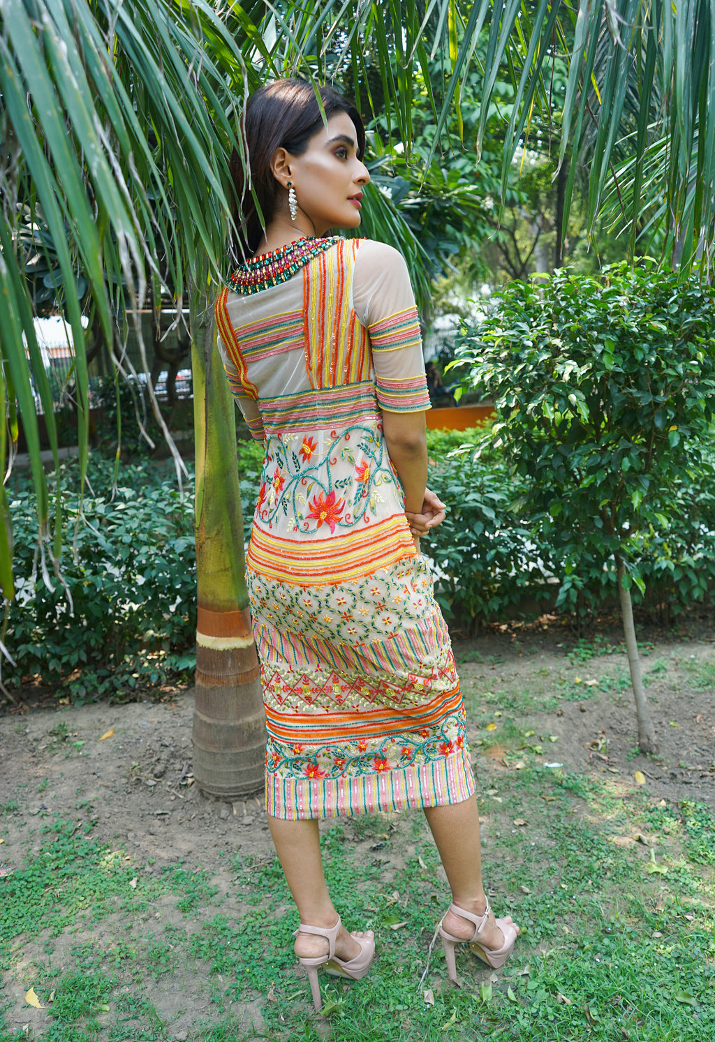 Embellished Multi Colour Dress