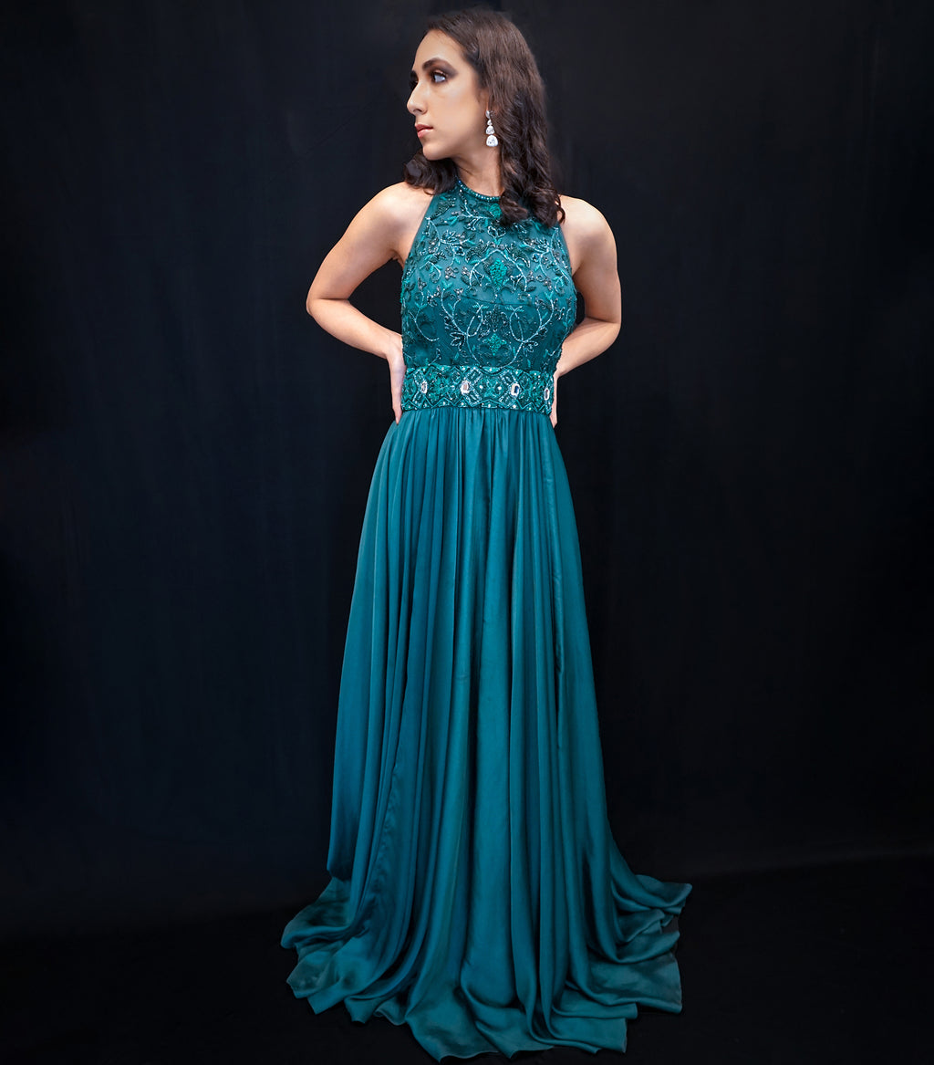 The Bottle Green Gown