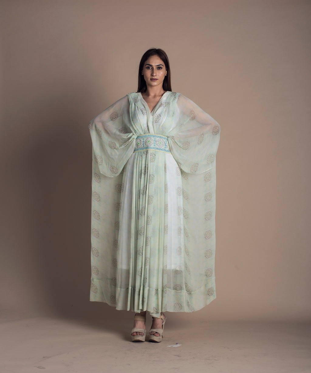 Digitally Printed Georgette Kaftan Dress