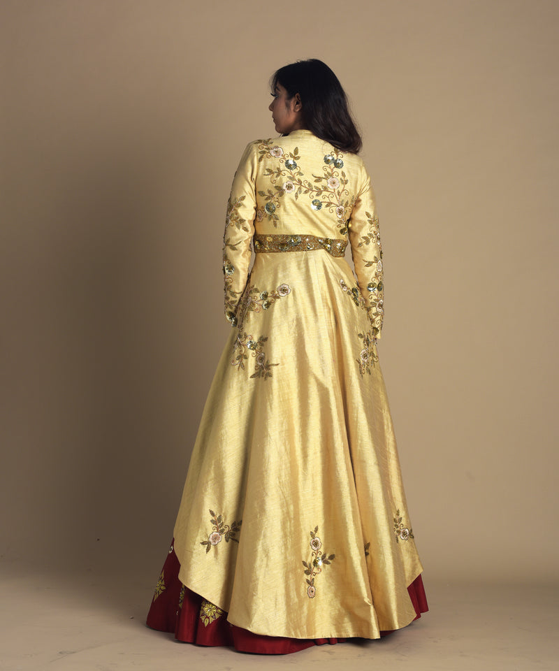 Long Jacket with embellished skirt