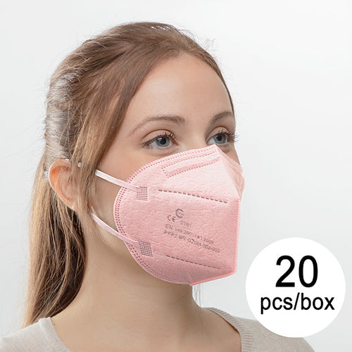 Masque Respiratoire de Protection FFP2 NR YW GZ001-002-003 Rose (Pack de 20)