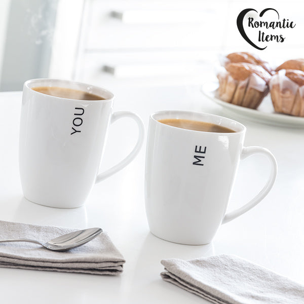 Tasses You & Me Romantic Items (Set de 2)