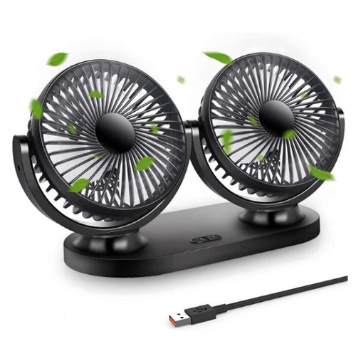 Mini Ventilateur Portable USB 360º Noir (Refurbished A+)
