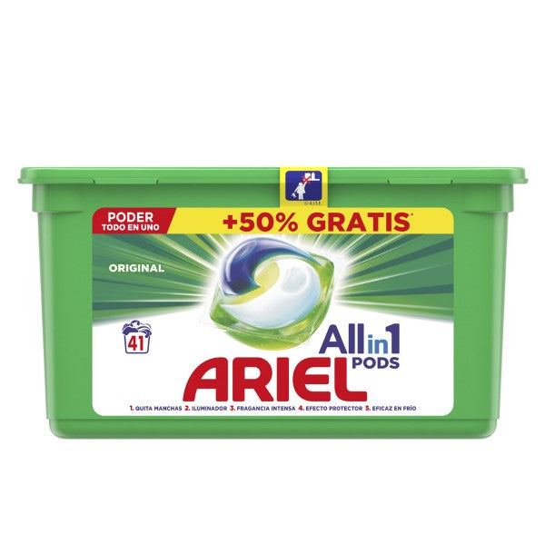 Détergent Pods All in 1 Ariel (41 uds)