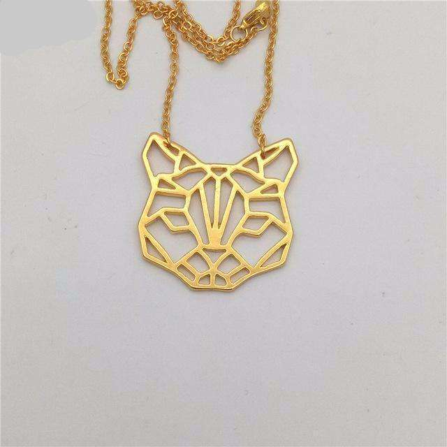 Collier origami - Chat, ShopVip, Or