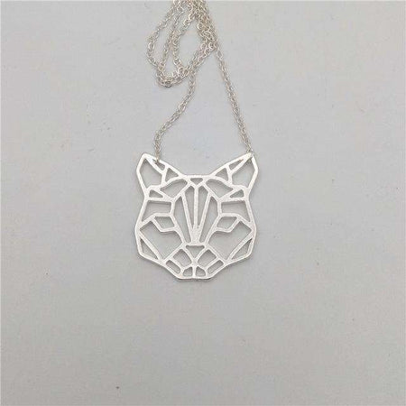 Collier origami - Chat, ShopVip, Argent
