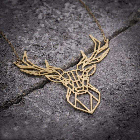 Collier origami - Cerf, ShopVip, Or