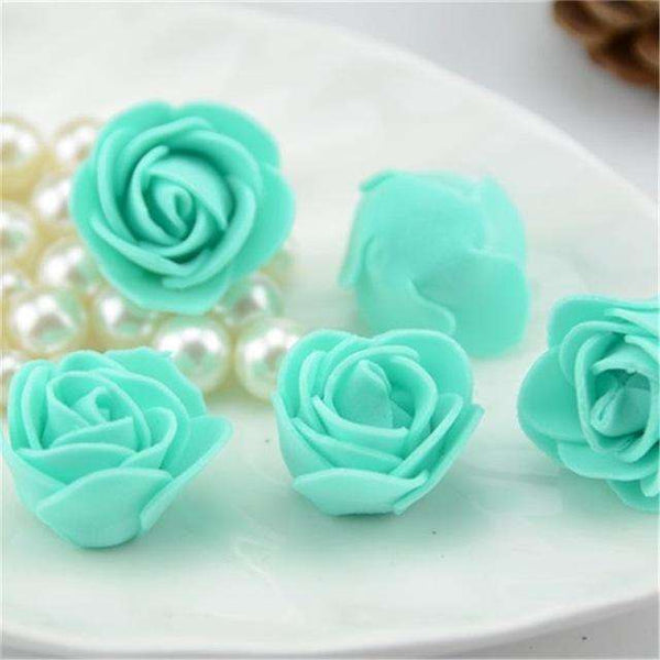 Mini tetes de roses en mousse lot de 50, ShopVip, Tiffany