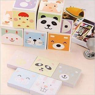 Lot de 2 boites de post it mignons, , ShopVip