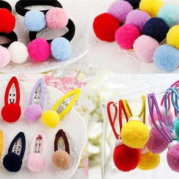 Lot de 100 pompons colorés, , ShopVip